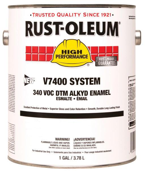 Rust Oleum High Performance V7400 340 Voc Dtm Alkyd Enamel
